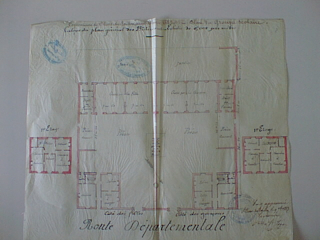 Plan groupe scolaire 1881